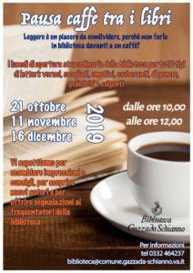 PAUSA CAFFE' TRA I LIBRI