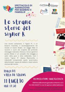 """SPETTACOLO  per bambini e famiglie """"LE STRANE STORIE DEL SIG.R"""""""